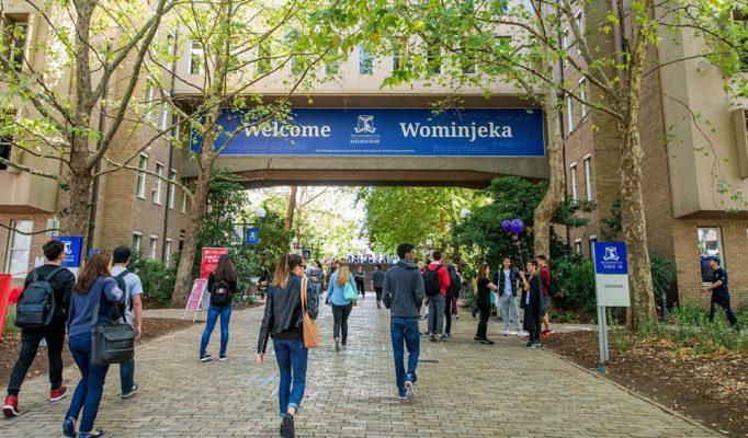 Estudiantes en una de las universidades de Australia